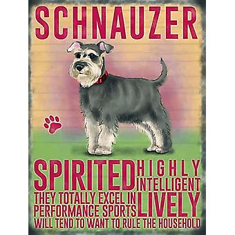 Schnauzer Wall Plaque by The Original Metal Sign Co