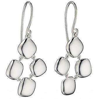 Delar Silver organiska Pebble örhängen - Silver