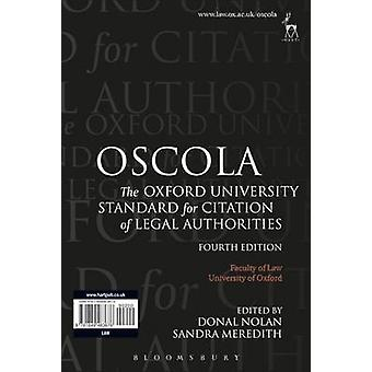 Oscola - The Oxford University Standard for Citation of Legal Authorit