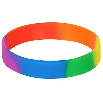 TRIXES Rainbow Novelty Wristband High Quality LGBT Gay Pride Peace Diversity Silicone