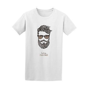 Hipster glaubt mir ich habe einen Bart Herrenabschlag - Bild von Shutterstock