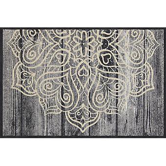 Salon lion heart mandala of washable mats floor mat runner