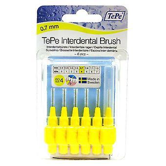 Tepe Interdental Brush 0.7 Yellow 6