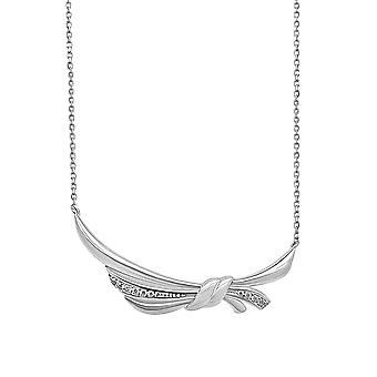 Ah! Bijoux en argent Sterling noeud pendentif collier avec cristaux de Swarovski