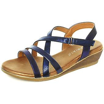 Cipriata Alessia Blue Womens Crossover Strap Sandals