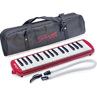 Stagg Red Melosta 32 Key Melodica