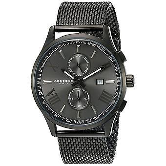 Akribos XXIV orologio da polso multifunzione in acciaio inossidabile da uomo AK905BK