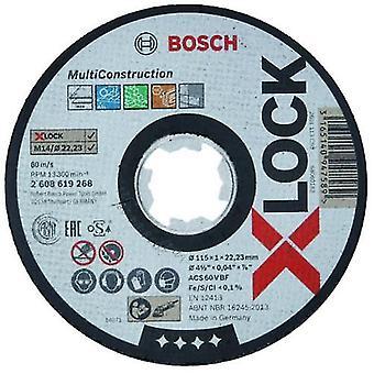 Bosch X-LOCK Expert Multi Construction 115x22mm Straight Cutting Disc
