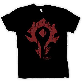 Mens T-shirt - Horde Crest Logo - World Of Warcraft inspiré