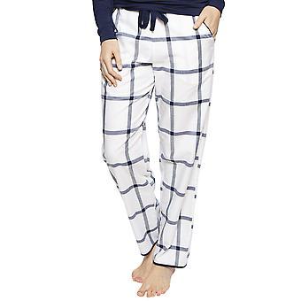 Cyberjammies 4216 femei ' s Emily White Mix verifica bumbac Pyjama pant