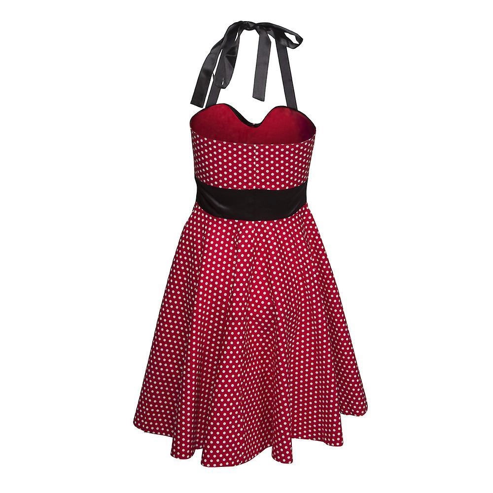 Klänning halterneck rockabilly - 1950's Polka