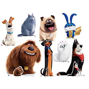 The Secret Life Of Pets 2 Cardboard Cutout / Standup Collection - Set of 8