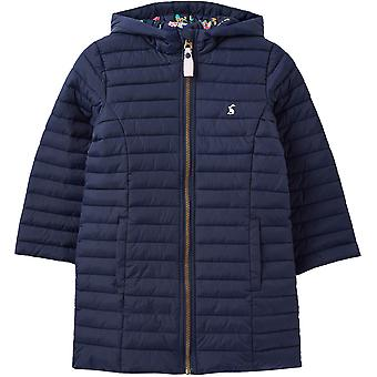 Joules Girls Longline Kinnaird Warm Padded Insulated Coat