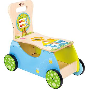 Classic World - Push Along Rider and Walker with Activity Centre, Building and Sorting Blocks for Development