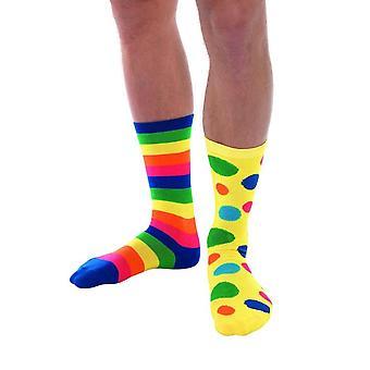 Big Top Clown sokker, unisex, Fancy Dress, en størrelse