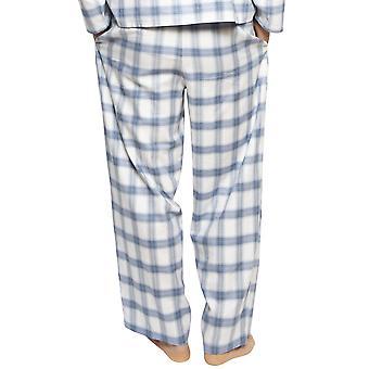 Cyberjammies 6424 bărbați ' s Harper Blue Mix verifica bumbac Pyjama pant