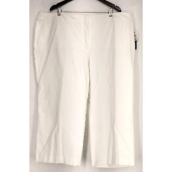 Alfani Plus Hose abgeschnitten Kontrollhose weiß Damen