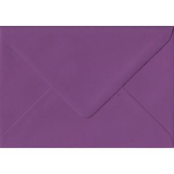 Purple Gummed Greeting Card Coloured Purple Envelopes. 100gsm FSC Sustainable Paper. 125mm x 175mm. Banker Style Envelope.
