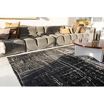 Mad Men 8655 weiß auf schwarz Rechteck Teppiche moderne Teppiche