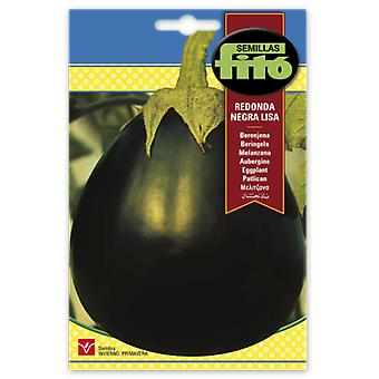 Semillas Fitó Smooth black round eggplant (Garden , Gardening , Seeds)