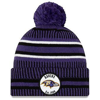 New Era Sideline Home 2019 Bommel Hat Baltimore Ravens