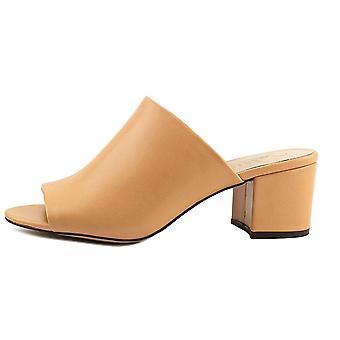 Callisto Womens Mathis Leather Peep Toe Mules
