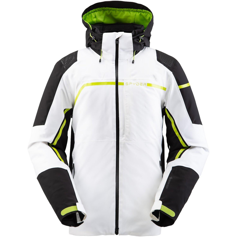 Spyder TITAN Herren Gore-Tex Primaloft Ski Jacke - weiß