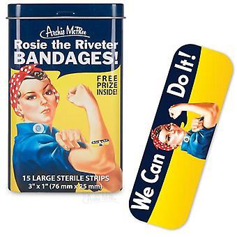 Beni personaggio - Archie McPhee - Bandage - Rosie The Riveter w/Tin 12697