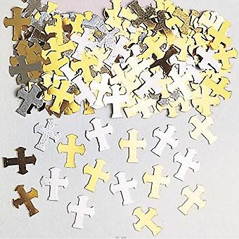 Amscan Metallic Crosses Confetti