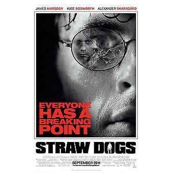 القش الكلاب ملصق مزدوجة من جانب العادية (2011) ملصق السينما الأصلي
