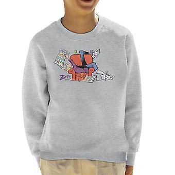 Zits Jeremy Reading Comics Kid's Sweatshirt