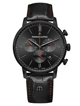 Maurice LaCroix Eliros Chronograph Black Leather Quartz Men's Watch