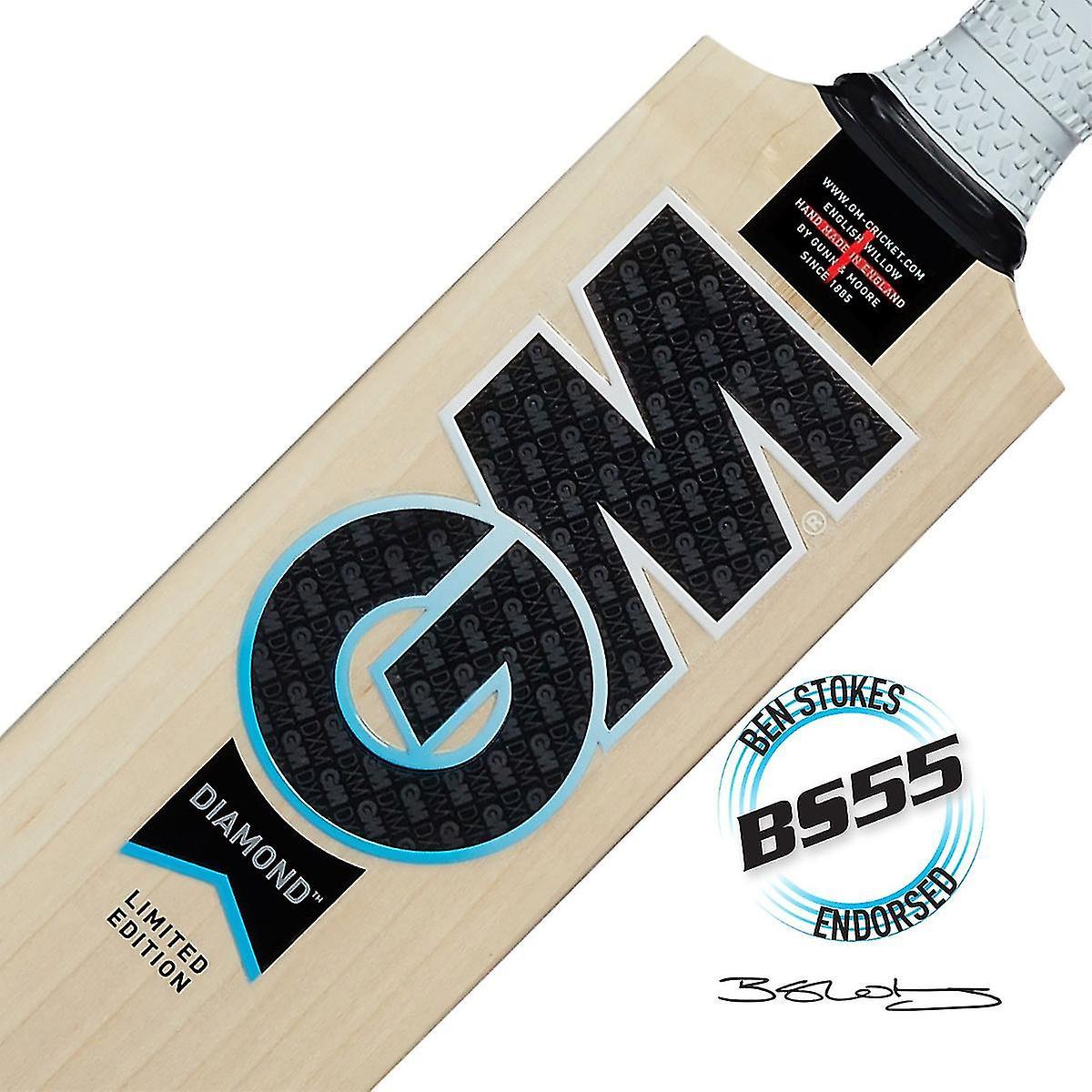 Gunn & Moore GM Cricket Diamond 606 L540 DXM BS55 Ben Stokes English Willow Bat