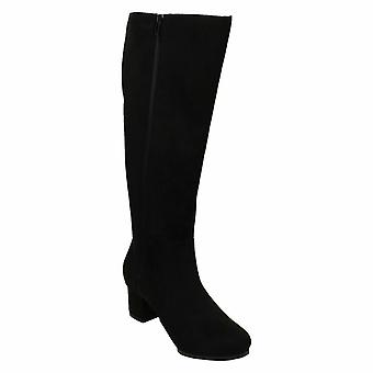 Spot On Womens / Ladies Extra Wide Knee High Boots Spot On Womens / Ladies Extra Wide Knee High Boots