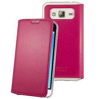 Case para Samsung Galaxy J1 (2016) Rosa sem clipe de fechamento