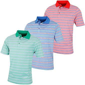 Bobby Jones Mens XH20 Patriot Stripe Oxford Pique Golf Polo Shirt