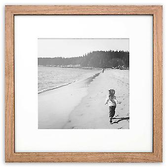 Oxford Black White Oak Square Instagram Photo Picture Frame Wood Effect Modern