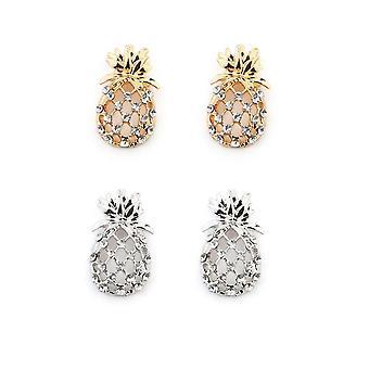 Krystal ananas øreringe
