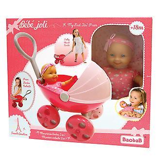 Fransk Creation Min Første 2 i 1 Barnevogn Og Dukke
