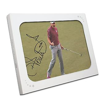 Ian Poulter Signed Photo: Birdie On The 17th In Gift Box