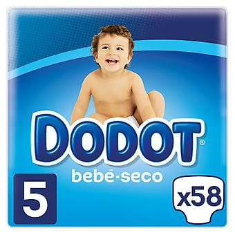 Dodot Baby Dry Diaper Size 5 with 54 + 4 Units (Baby & Toddler , Diapering , Diapers)
