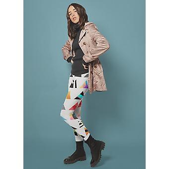 Watercolor chevron pattern  legging