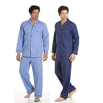 2 pack męskie Haigman Easy Care tkaniny sytowe Długi Piżama nocna salon zużycie