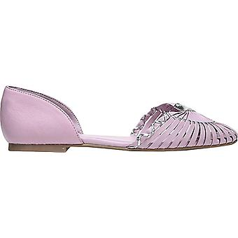 Fergie Womens Nickel Leather Closed Toe Slide Flats