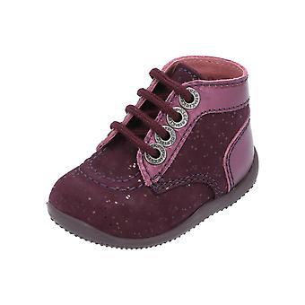 Kickers BONBON Kids Girls Sneakers Red Turn Shoes Sport Running Shoes