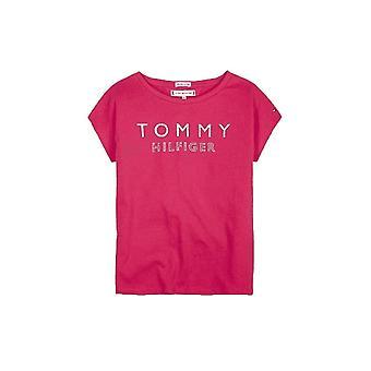 Tommy Hilfiger Girls Tommy Hilfiger Girl's Pink Foil Print T-shirt