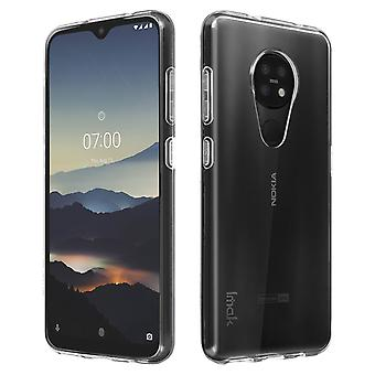 Soft Silicone Protective Case for Nokia 7.2 & 6.2 Resistant- ImaK, Translucent