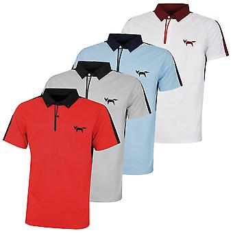 Wolsey Mens Colour Block Bonded Naad Sneldrogende Golf Polo Shirt