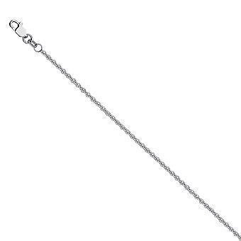 925 Sterling Silver Rhodium Plated 2mm Cable Chain Necklace Lobster Claw Closure Jewelry Gifts for Women - Length: 16 to