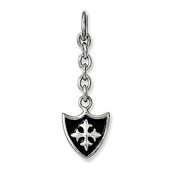 Acero inoxidable pulido escudo intercambiable colgante colgante collar regalos de joyería para las mujeres